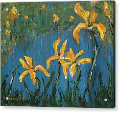 Acrylic Print featuring the painting Irises by Jamie Frier