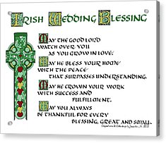Irish Celtic Wedding Blessing Acrylic Print