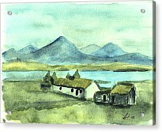 Irish Cottage Acrylic Print by Alan Hogan