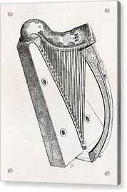 Irish Harp. From Handbook Of The Arts Acrylic Print