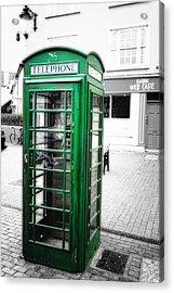 Irish Phone Booth In  Kinsale Acrylic Print by George Oze