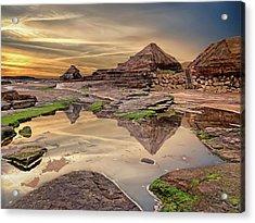 Irish Pyramids In Bundoran Acrylic Print