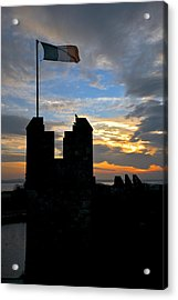 Irish Sunset Over Ramparts 1 Acrylic Print