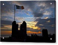 Irish Sunset Over Ramparts 2 Acrylic Print