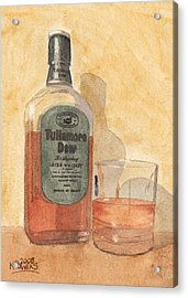 Irish Whiskey Acrylic Print by Ken Powers
