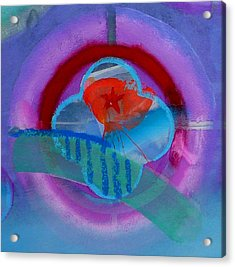 Acrylic Print featuring the painting Iron Butterfly by Charles Stuart
