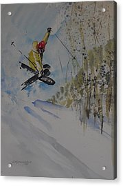 Acrylic Print featuring the painting Iron Cross At Beaver Creek by Sandra Strohschein