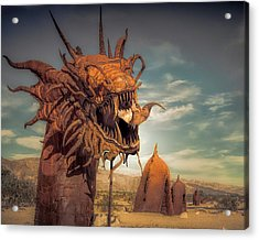 Iron Dragon Acrylic Print by Steve Benefiel