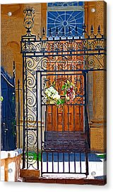 Acrylic Print featuring the photograph Iron Gate by Donna Bentley