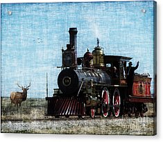 Iron Horse Invades The Plains Acrylic Print by Lianne Schneider