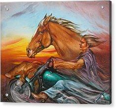 Iron Horse Acrylic Print by Martin Katon