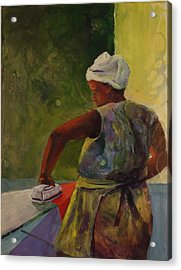 Ironing Lady Acrylic Print by Buff Holtman