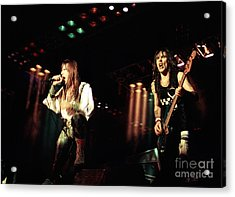 Iron Maiden 1987 Bruce And Steve Acrylic Print by Chris Walter