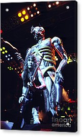 Iron Maiden 1987 Steve Harris And Eddie Acrylic Print by Chris Walter