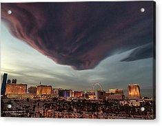 Acrylic Print featuring the photograph Iron Maiden Las Vegas by Michael Rogers