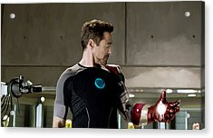 Iron Man 3 Acrylic Print by Paul Tagliamonte