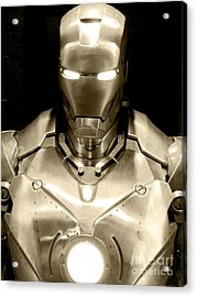 Iron Man 4 Acrylic Print by Micah May