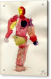 Iron Man Acrylic Print by Vincent Gitto