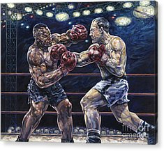 Iron Mike Vs. Rocky Acrylic Print by Dennis Goff