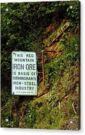 Iron Ore Seam Marker Acrylic Print