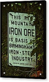 Iron Ore Seam Poster Acrylic Print