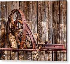 Iron Acrylic Print by Ron  McGinnis