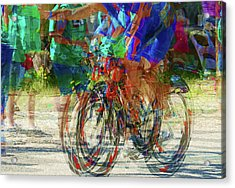 Ironman Bicyclist 2109 Acrylic Print by David Mosby