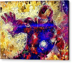 Acrylic Print featuring the mixed media Ironman  by Al Matra