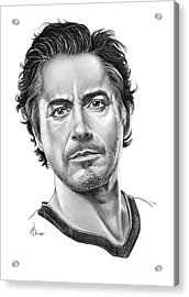 Robert Downey Jr Acrylic Print