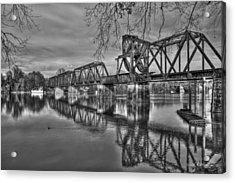 Ironman Trestle 2 6th Street Bridge Augusta Georgia Acrylic Print by Reid Callaway