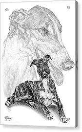 Irresistible - Greyhound Dog Print Acrylic Print by Kelli Swan