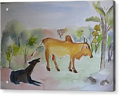 Acrylic Print featuring the painting Irresistible  by Geeta Biswas