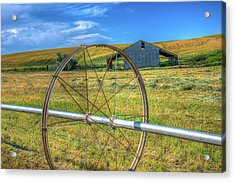Irrigation Water Wheel Hdr Acrylic Print by James Hammond