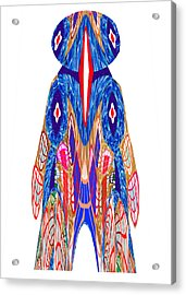 Is That A Head Or A Hat ??  Alien Fineart Graphic Whimsical Rohrshoc Abstract By Navinjoshi Acrylic Print