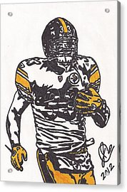 Acrylic Print featuring the drawing Isaac Redman by Jeremiah Colley