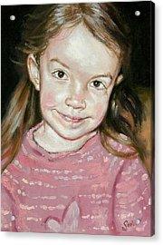 Isabeau Smiles Acrylic Print by Larry Seiler