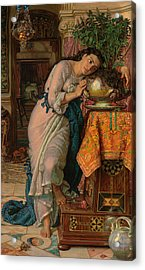 Isabella And The Pot Of Basil Acrylic Print by William Holman Hunt
