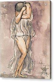 Isadora Duncan Acrylic Print by Emile-Antoine Bourdelle
