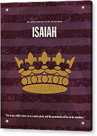 Isaiah Books Of The Bible Series Old Testament Minimal Poster Art Number 23 Acrylic Print by Design Turnpike