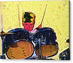 Isaiah The Drummer Acrylic Print by Deborah MacQuarrie-Selib