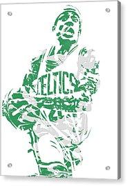 Isaiah Thomas Boston Celtics Pixel Art 15 Acrylic Print