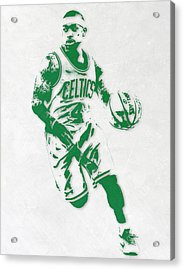 Isaiah Thomas Boston Celtics Pixel Art 2 Acrylic Print by Joe Hamilton