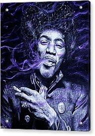 I S C M- Purple Haze Acrylic Print by Soler Art