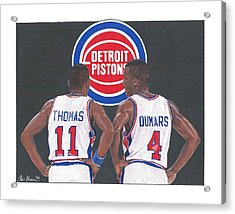 Isiah Thomas And Joe Dumars Acrylic Print