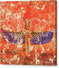 Isis, Mother Goddess Of Egypt By Raphael Terra And Mary Bassett Acrylic Print