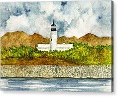 Isla De Cardona Lighthouse Acrylic Print by Michael Vigliotti