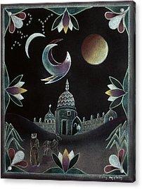 Islamic Night Acrylic Print by Sally Appleby