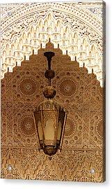 Islamic Plasterwork Acrylic Print by Ralph A  Ledergerber-Photography