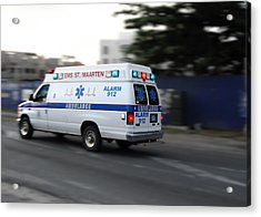 Island Ambulance Acrylic Print by RKAB Works