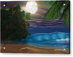 Island Beach Acrylic Print by Corey Ford